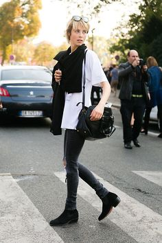 Edie Campbell after Chanel SS15  (via On The Street: PFW S/S 15 Day 8 - Of The Minute)