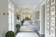 Gorgeous gallery hall basement level