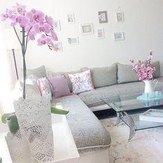 Duvar dekorasyon, Gri, Köşe koltuk, Mor, Salon