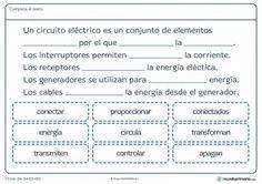 Ficha del circuito eléctrico para primaria