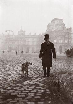 Gustave Caillebotte et bergere sur la place du Carrousel.