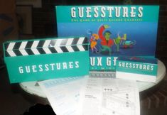 Vintage Guesstures Chardes-like board game Games Box, Games To Play, Bored Games, Vintage Board Games, Milton Bradley, Charades, Inside The Box, Childhood Memories, Jigsaw Puzzles