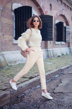 Philosophy Fringe Sweater Valentino Va Va Voom Leather Shoulder Bag Sandro Low Top Sneakers Ray-Ban Round Sunglasses