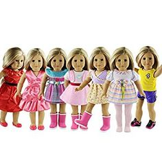 Amazon.com: ZWSISU 18-Inch 7 Outfits American Girl Doll  Accessories Set: Toys & Games