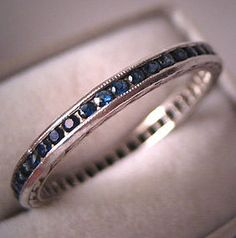antique sapphire band - Google Search