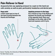 Hegu - a very strong acupuncture point for stress.
