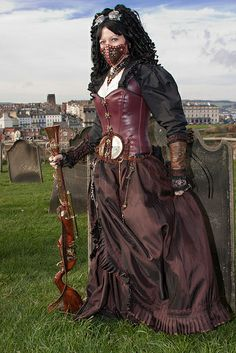 Gotta love a girl with a corset and a musket.