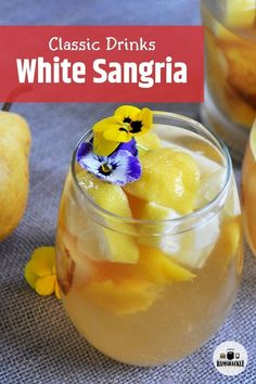 Classic White Sangria to enjoy on your deck, at a picnic, or just when you have some friends over. This is a tasty Spanish cocktail recipe that is best served when you are an adult and thirsty!