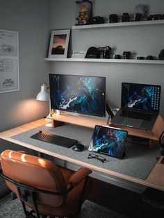 Home Office Setup, Home Office Design, House Design, Office Ideas, Ceo Office, Lawyer Office, Office Designs, Office Workspace, Office For Men