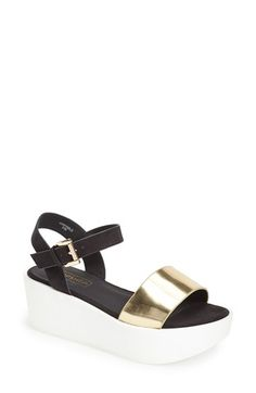 Topshop 'Honey' Ankle Strap Wedge Platform Sandal (Women) available at #Nordstrom