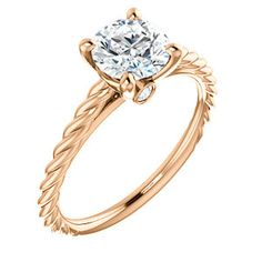 Rope-Style Solitaire Engagement Ring in Rose Gold CLAIRE | 122676