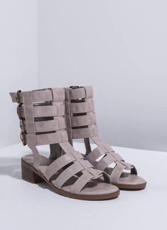 $22 Quad Buckle Caged Sandals – Colors of Aurora