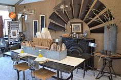 windmill blades wall art - perfect for a Lubbock home or office Industrial Farmhouse Decor, Urban Farmhouse, Rustic Farmhouse, Farmhouse Ideas, Windmill Wall Decor, Windmill Art, Windmill Blades, Interior Decorating, Decorating Ideas