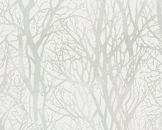 A.S. Création Tapete 300942: Tapete, Grün, Metallics, Weiß, Natur, Floral, Landhaus, Flur, Küche, Schlafen, Wohnen, Schlafzimmer, Wohnzimmer