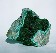 """Sparkling Malichite crystals in the vug of a host rock, 3"""", Congo, Africa"""