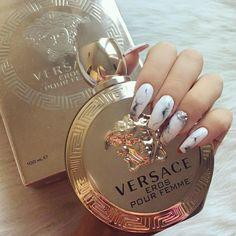Versace Eros Pour Femme Women's Eau de Parfum Spray, 1 Ounce – oneworldoneshop Best Perfume, Perfume Scents, Perfume Bottles, Mac Makeup, Beauty Makeup, Beauty Nails, Makeup Bags, Blue Makeup, Makeup Products