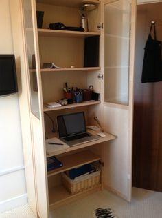 Ikea Hack... BILLY bureau workspace in a BILLY bookcase