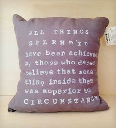 """All Things Splendid"" Linen Pillow 