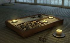 Sand or gravel is said to symbolize water, emptiness, distance, and purity- all places of meditation. Come explore the history and benefits of Zen gardens and why you should add a desktop Zen Garden to your home or office! Via My Zen Decor. Zen Meditation, Meditation Rooms, Yoga Rooms, Meditation Corner, Relaxation Room, Zen Space, Jardin Zen Miniature, Feng Shui, Garden Wallpaper