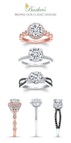 Since 1981 Barkev's has been successful in the designing and manufacturing of fine jewelry. To see our unique engagement rings and unique wedding rings, browse through our collections page. Dream Engagement Rings, Classic Engagement Rings, Solitaire Engagement, Wedding Ring Styles, Wedding Bands, Gown Wedding, Wedding Dresses, Bling Bling, Ring Crafts