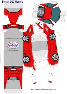 paper car craft | SP. Papel Modelismo: PaperCrart - Ferrari 360 Modena