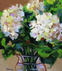 Heart's Harmony Hydrangeas by Texas Flower Artist Nancy Medina, painting by artist Nancy Medina