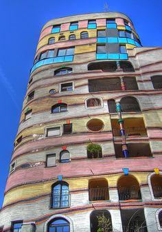 Waldspirale building, in Darmstadt, Germany