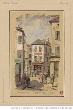 Carrefour des rues St Rustique, de Norvins et Ravignan - Montmartre - 1883