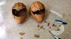 How to make simplified power ranger?      Homemade Power Rangers Helmet for kids (4 & 6 yo) :)    masking tape http://amzn.to/1LaxaSt  bind...