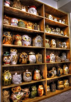 Owl Cookie Jar Collection,color, HDR,flickr | Flickr - Photo Sharing!