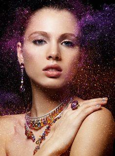 I don't usually like glitter, but awesome. Glitter by Alexandra Leroy, via Behance