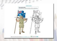 ANZAC Colouring page for the younger kids to teach the spirit and history of ANZAC Day...