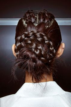 Try these not-so-basic braids from @stylecaster | twisted braided updo