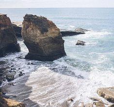 Playa, Cliff, Costeras, Espuma