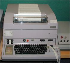 Telex machine--I was taught how to use this to send messages to Europe when I worked at the office of my dad's client on Park Avenue, NYC, who did international trading in minerals. 1970's