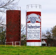 This Buds For You Western Arkansas has some important and noteworthy landmarks. There is the Fort Smith National Historic Site, the towering views from Mount Magazine, and of course, the giant beer can silo. Barn Art, Fort Smith, Water Tower, Water Tank, Historical Sites, Arkansas, Street Art, Waterfall, Beer