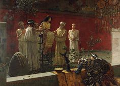 The Oracle, 1880, Camillo Miola (Biacca). Oil on canvas.