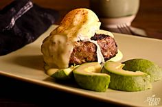 A simple recipe for a mouth watering burger served with a poached egg and hot Hollandaise sauce.
