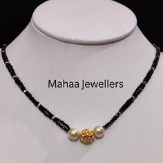 Pearl Necklace Designs, Jewelry Design Earrings, Gold Earrings Designs, Bead Jewellery, Kerala Jewellery, Gold Jewelry, Fancy Jewellery, Latest Jewellery, Jewlery