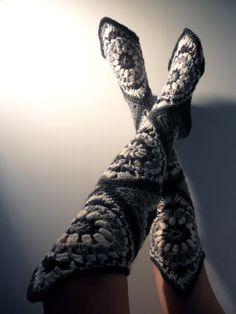 Crochet Granny Boots
