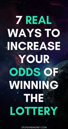 7 Real Ways to Increase Your Chances of Winning the Lottery Lucky Numbers For Lottery, Winning Lottery Numbers, Winning The Lottery, Lotto Numbers, Winning Numbers, Lottery Winner, Lottery Pick, Lottery Tickets, How To Win Lottery