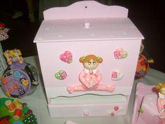 Ceramic Figurine Jewelry Box