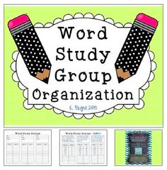 Words Their Way FREEBIE! Helps to organize groups.