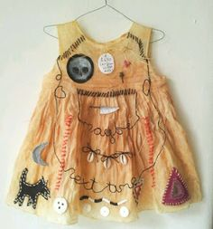 """Fiona Sant ~ Small dresses. *pale amulet* Latex and mixed media. 12-20"""" high. 2015 correct link: fiona-sant.co.uk/page-0"""