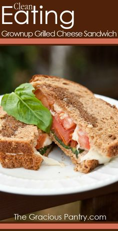Grownup Grilled Cheese Sandwich | via @The Gracious Pantry (Tiffany McCauley) #CleanEating