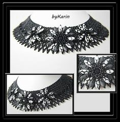 Beautiful necklace via Blacky at home blog. Loving the contrast here