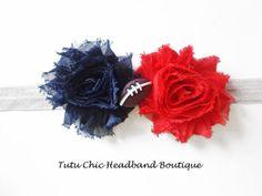 New England Patriots Headband: baby headbands, newborn headband, football headbands, infant headband, toddler headband, childrens headband