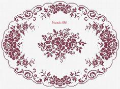 Filet Crochet, Crochet Lace Edging, Crochet Doilies, Crochet Flowers, Crochet Stitches, Crochet Patterns, Cross Stitch Rose, Cross Stitch Flowers, Cross Stitch Patterns