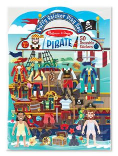 Puffy Stickers Play Set: Pirate | Party Favors | Melissa and Doug