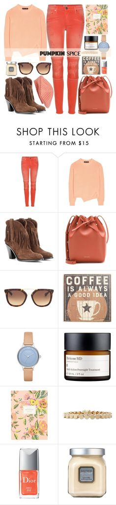 """Pumpkin Spice Style"" by alaria ❤ liked on Polyvore featuring True Religion, Proenza Schouler, Yves Saint Laurent, Mansur Gavriel, Prada, Primitives By Kathy, Skagen, Perricone MD, Rifle Paper Co and Eddie Borgo"